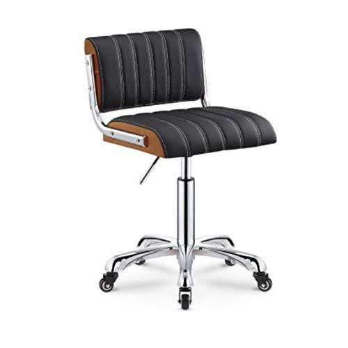 NAN liang Chaise de bar, chaise pivotante à 360 ° réglable haut de 27,6 à 33,1 pouces, tabourets de bar avec dossier repose-pieds en chrome, 330 lb, 3 couleurs (Couleur : Black+orange)