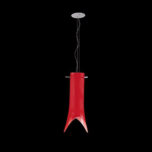Paola Murano Glas Hängeleuchte Rot   Handgefertigt in Italien   Pendelleuchte Modern Dimmbar   Lampe E 27