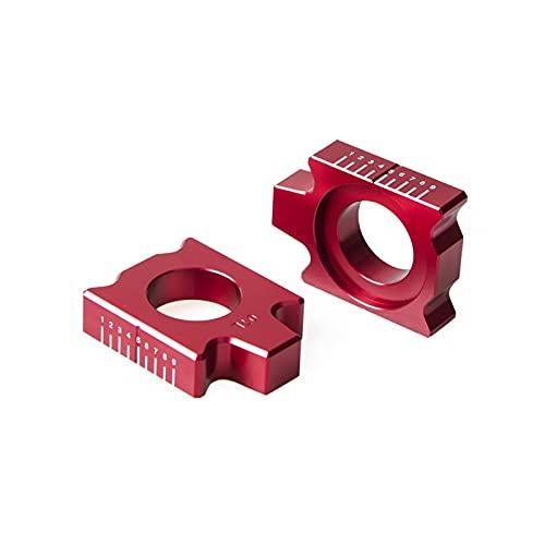 YINYANG Tylna osi Kit łańcuch regulator pasuje do YZ125 YZ250 YZ250F YZ450F YZ125X YZ250FX YZ450FX WR250F WR450F WR250R WR250X YZ250X 2019 (Color : Red)