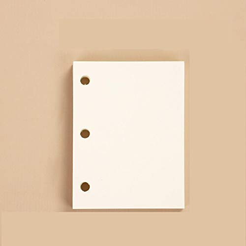 Lindo transparente 3 anillos Mini cuaderno de hojas sueltas Estudiante portátil Carpeta de anillas de libro de mano Kawaii...