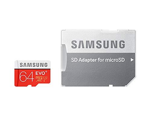 Samsung Speicherkarte MicroSDXC 64GB EVO Plus UHS-I Grade 1 Class 10, für Smartphones und Tablets, mit SD Adapter