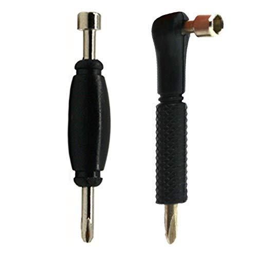 Teak Tuning Fingerboard Tools Combo Set - Pack of 2 Tools - Black