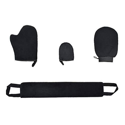 Healily Lot de 4 gants de bain exfoliants pour le dos