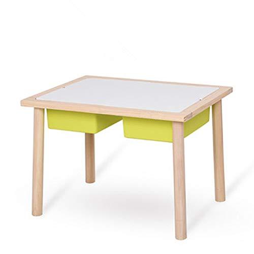 Reeamy-Home Table pour Enfants Tableau personnalisé de Table Toy Stockage Bois for Les Enfants for Enfants, Cadeaux for Les Enfants Filles Amis (Color : Green, Size : 75x52x52cm)
