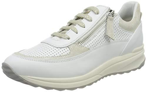 Geox D AIRELL A, Zapatillas Mujer, Color Blanco, 38 EU