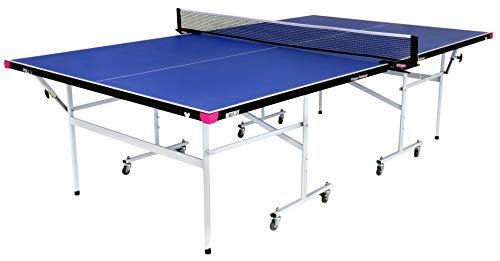Butterfly Fitness Rollaway Indoor Table Tennis Table, Blue