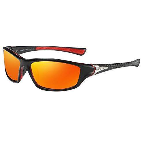 SDENSHI Gafas de Sol Deportivas para Esquí, Protección UV400 Ciclismo Bicicleta Gafas de Bicicleta, Gafas de Sol Unisex para Correr/Esquiar/Hacer Snowboar - Naranja