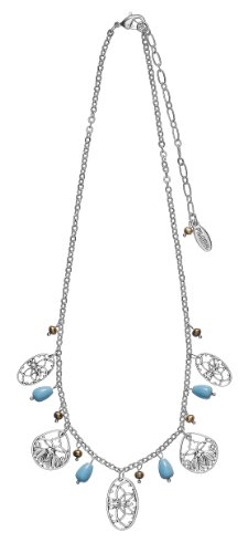 Pilgrim Damen-Halskette Filigree Versilbert, Pastell 38 Cm 541-721