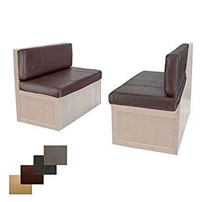 """RecPro Charles RV Dinette Booth Cushions with Memory Foam Camper Trailer Bed (Mahogany, 40"""") by RecPro"""
