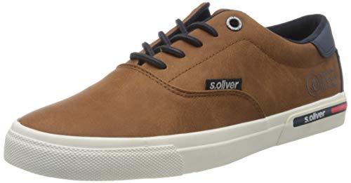s.Oliver Herren 5-5-13609-24 Sneaker, Braun (Cognac 305), 44 EU