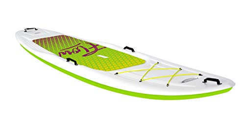 Pelican - SUP - Hardshell Stand-Up Paddleboard - Lightweight Board with a Bottom Fin for Paddling, Non-Slip Deck - Perfect for Youth & Adult (Lime, 10...