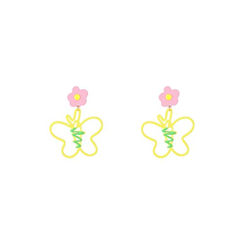 Xlin 925 Plata Ear Aguja Flor Mariposa Estilo Pendientes Pendientes Nuevos Pendientes Temperamento Oreja Aérea De Alto Nivel (Color : Ear Studs)