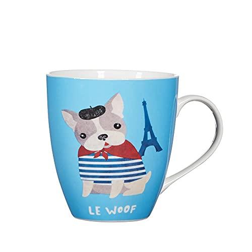 Pfaltzgraff French Bulldog Ceramic Coffee Mug Le Woof