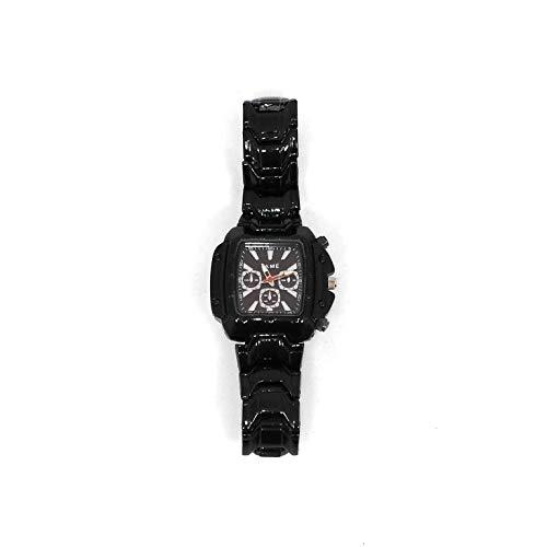 CMTech GmbH Montagetechnik - Reloj de Pulsera para Hombre y Mujer, Color Negro, Moderno, Joyas, Accesorios, Regalo, Navidad, Papá Noel