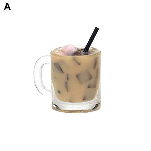 KingbeefLIU Miniatur Puppenhaus Kaffeetasse Modell Eisgetränke Mini So Tun, Als Ob Küchenspielzeug Geburtstagsgeschenke Für Frauen Und Mädchen EINNone
