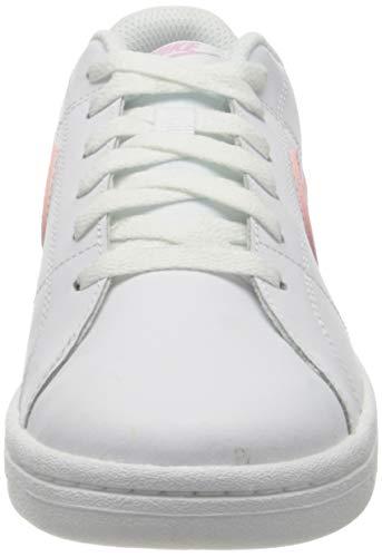 Nike Court Royale 2, Sneaker Mujer, White/Light Arctic Pink, 39 EU