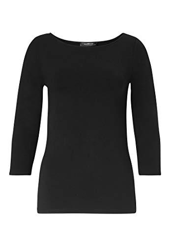 HALLHUBER Basic-Shirt mit U-Boot-Ausschnitt leicht tailliert schwarz, M