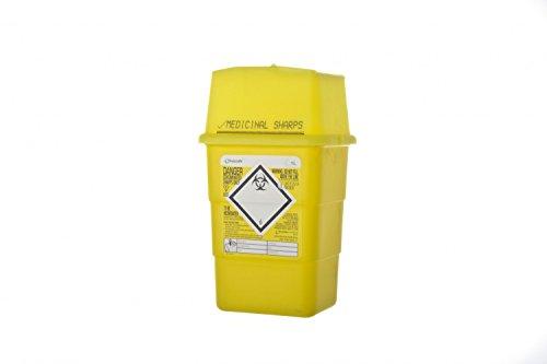 Sharpsafe Behälter für fm41602430Sharp Entsorgung Behälter, 1l, Gelb Deckel