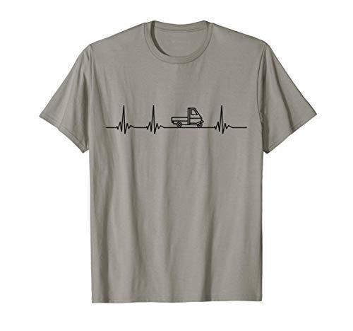Ape Dreirad Italien Herzschlag T-Shirt