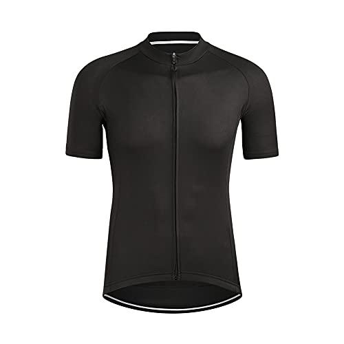 SOBW Maglia da ciclismo da uomo, a maniche corte, da ciclismo, con chiusura lampo completa, per corsa, asciugatura rapida, da ciclismo