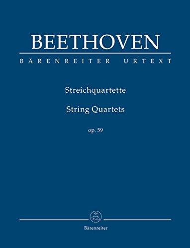 Mirror PDF: ベートーヴェン: 弦楽四重奏曲 Op.59/1-3 「ラズモフスキー」/原典版/デル・マー編/ベーレンライター社: 中型スタディ・スコア