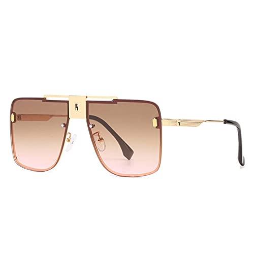 AMFG Fashion Square Sunglasses Modern's Modern Women's Tendencia Rimless Sunglasses Sunshade a prueba de polvo Viaje al aire libre Decoración (Color : F)