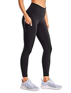 CRZ YOGA Women's Naked Feeling High Waisted Yoga Pants with Pockets