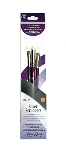 Silver Brush SS-157 Silver Scrubber Brush Set Mixed