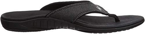 Spenco Men's Yumi Flip Flop Sandal, Carbon/Pewter, 11 Medium