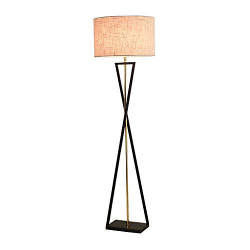 Lámpara de Pie Lámpara de pie Simple Design, Lámpara de pie moderna con iluminación de pie de sombra Lámpara de polo alta elegante for sala de estar lámpara de lectura (Color : Grey)