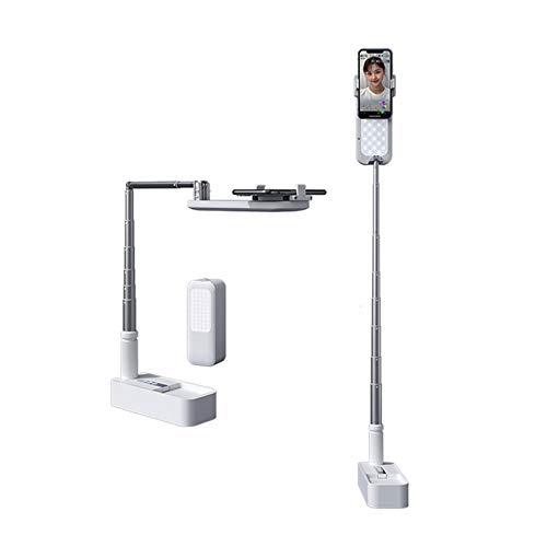 Soporte para teléfono móvil de escritorio 360° giratorio con control remoto Bluetooth Para hornear, manualidades, demostraciones, dibujar, dibujar, grabar