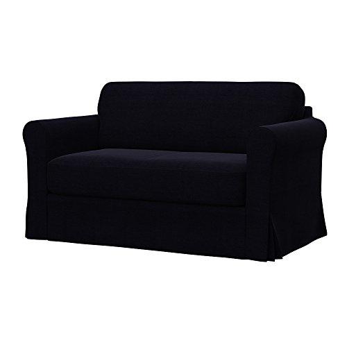 Soferia - IKEA HAGALUND Funda para sofá Cama, Elegance Black