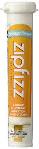 Zipfizz Orange Cream Healthy Energy Drink Mix - Transform Your Water Into a Healthy Energy Drink - 30 Orange Cream Tubes