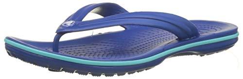 crocs Unisex-Erwachsene Crocband Flip Flop Zehentrenner, Blue Jean/Pool, 46/47 EU