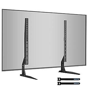 TV-KOMPATIBILITÄT: Universal TV Ständer für die meisten 22 27 30 32 37 40 42 47 50 55 60 63 65-Bildschirm-Fernseher mit VESA-Montagelochmustern zwischen 50 mm x 50 mm und 800 mm x 400 mm mit einer maximalen Tragfähigkeit von 50 kg (110 lbs) 2 INSTALL...