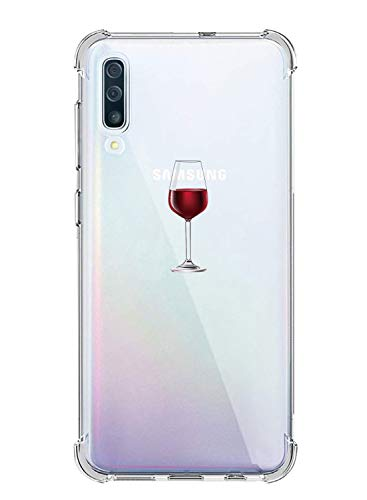 Oihxse Funda Compatible para iPhone 6 Plus/6S Plus Ultra Delgada Ligera Transparente Silicona TPU Gel Suave Carcasa Elegante Patrón Lindo Bumper Anti-Rasguño Protector Caso Case (Copa de Vino Tinto)