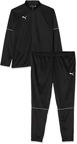 PUMA Herren teamGOAL Tracksuit Core Trainingsanzug, Black White, L