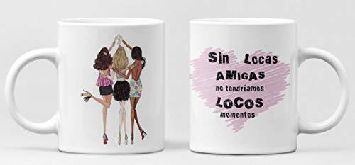 Desconocido Taza Amigas locas. Taza cerámica de café Amistad