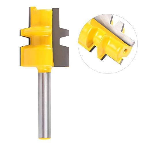 1/4 Pulgadas Vástago Medio Reversible Glue Joint Router Bit Para Trabajar La Madera...