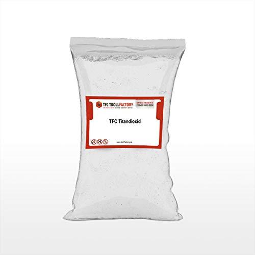 TFC Titandioxid I Titanweiß I Oxidweiß I Weißpigmente zum Einfärben von Farben, Kunststoffen, Beton, Estrich, Putz, Epoxidharz I 1 kg