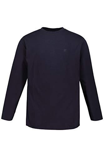 JP 1880 Herren große Größen bis 8XL, Langarmshirt, Sweatshirt mit Logo-Stickerei, Basic, Rundhals, Regular Fit, Baumwolle Marine XL 702559 70-XL