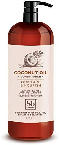 Soapbox Coconut Oil Conditioner Sulfate Free Paraben Free Silicone Free Color Safe and Vegan product image