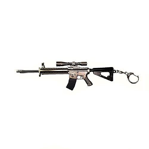 pidak shop Llavero de metal con diseño de escopeta de Estados Unidos