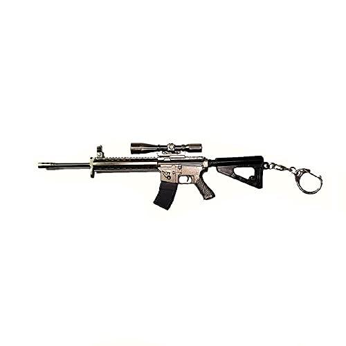 pidak shop Llavero de metal con diseño de escopeta de...
