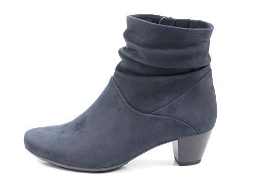 Gabor 92-823 Schuhe Damen Stiefeletten Ankle Boots Weite G , Schuhgröße:40.5, Farbe:Blau