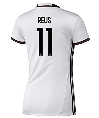 adidas Reus #11 Germany Home Women Soccer Jersey Euro 2016 (XL) White