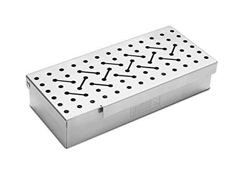 Weber 7576 Räucherbox universal, Räuchern, für Gas- und Holzkohlegrills, Raucharmona