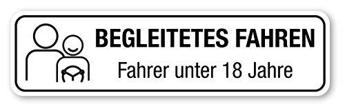 Magnetschild Begleitetes Fahren | BF-17 | 30 x 8 cm lieferbar, Einfarbig schwarz:Einfarbig schwarz