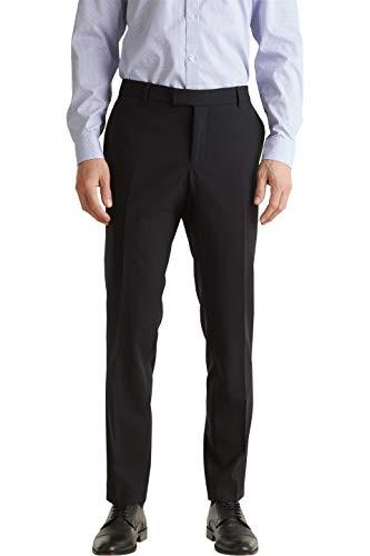 ESPRIT Collection Herren 990EO2B303 Anzughose, Schwarz (Black 001), W(Herstellergröße: 50)