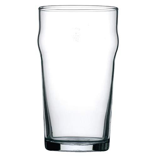 Arcoroc - Bicchieri da birra Nonic da 570 ml, marcati CE, 570 ml, 1 pinta, marcati CE, confezione da 48